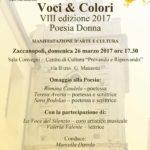 La prima volta a Zaccanopoli: Voci & Colori – Poesia Donna nella sua VIII Edizione 2017